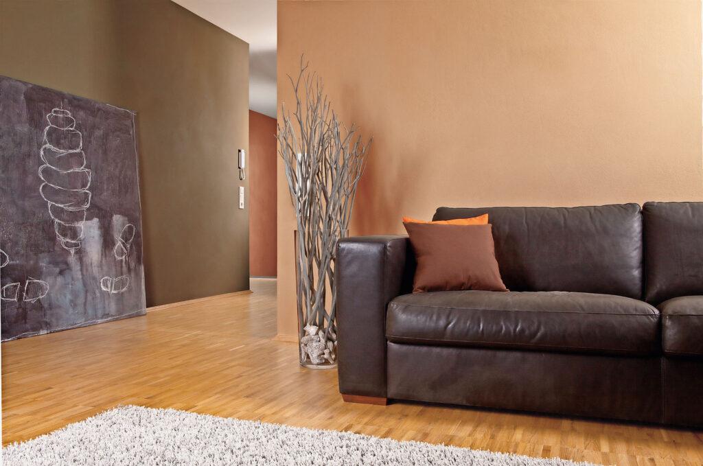 Lehmfarbtöne Sofa